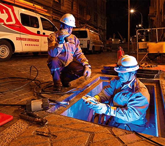 Electrical Employees Working Underground