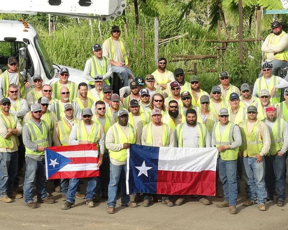Oncor employees in Puerto Rico