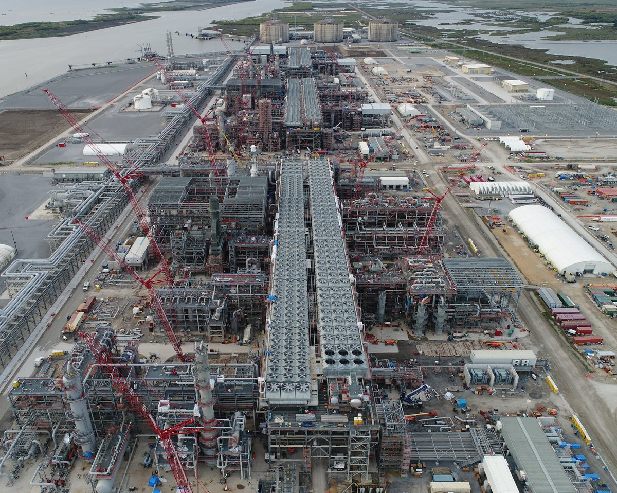 Cameron LNG construction