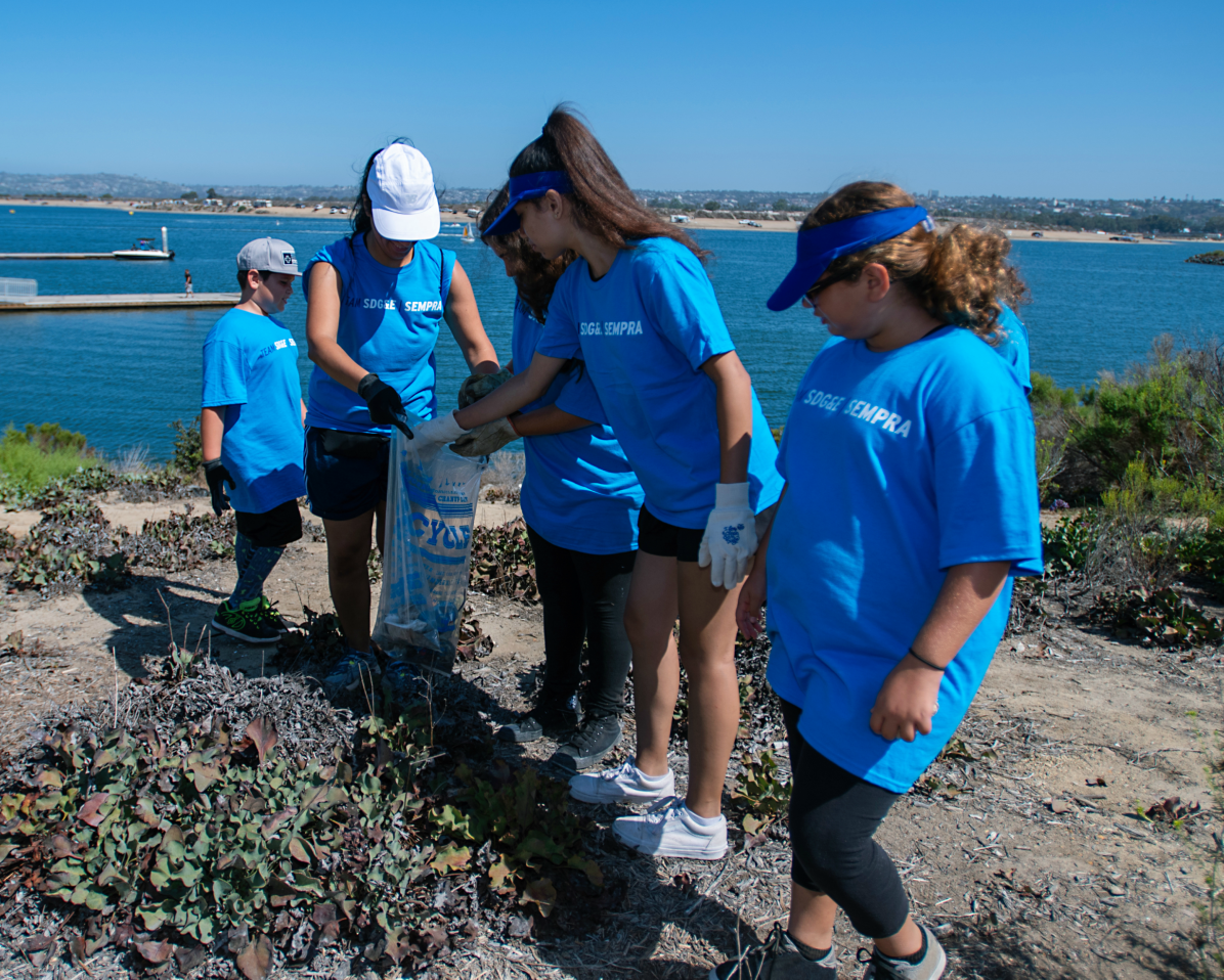 Employees volunteered at San Diego's largest environmental cleanup.